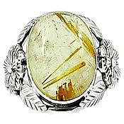 Украшения ручной работы. Ярмарка Мастеров - ручная работа Кольцо Рутиловый кварц в серебре. Handmade.