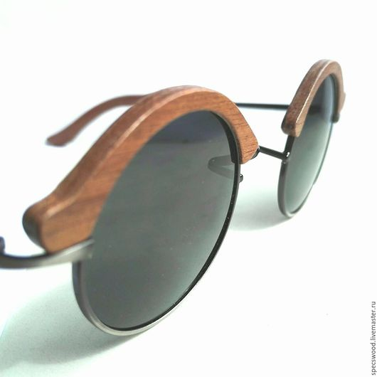 Очки ручной работы. Ярмарка Мастеров - ручная работа. Купить Солнцезащитные очки №231. Handmade. Очки из дерева, махагон