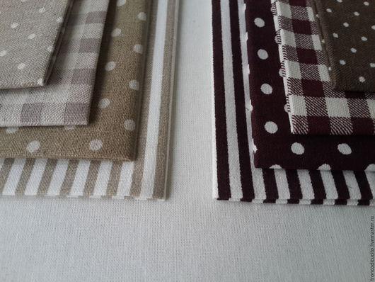 Шитье ручной работы. Ярмарка Мастеров - ручная работа. Купить Набор ткани ( лён). Handmade. Коричневый, набор для творчества