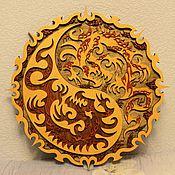Картины и панно handmade. Livemaster - original item Panels Of Dragons Yin Yang. Handmade.