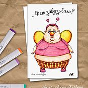 Открытки handmade. Livemaster - original item Author`s card with faye Boris. Handmade.