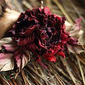 Украшения ручной работы. Ярмарка Мастеров - ручная работа Кожаные цветы. Цветы из кожи. Роза из кожи.. Handmade.