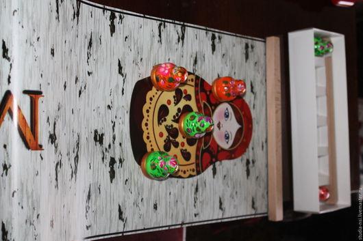 Матрешки ручной работы. Ярмарка Мастеров - ручная работа. Купить Матрешка - компактная игра. Handmade. Бордовый, дерево