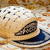 Аксессуары handmade. Livemaster - original item Cap made of birch bark
