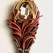 Украшения handmade. Livemaster - original item Brooch Feather of the Firebird. Handmade.