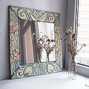 Для дома и интерьера ручной работы. Ярмарка Мастеров - ручная работа зеркало из штукатурки Вдохновение. Handmade.