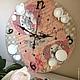 """Часы для дома ручной работы. Заказать Часы """"Безумное чаепитие"""". Elena (LavkaVremeni). Ярмарка Мастеров. Часы интерьерные, карты, декупаж"""