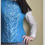 Одежда handmade. Livemaster - original item Knitted mohair vest