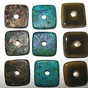Материалы для творчества ручной работы. Ярмарка Мастеров - ручная работа Керамика, квадрат 13 мм , три цвета. Handmade.