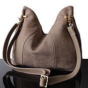 Сумки и аксессуары handmade. Livemaster - original item Crossbody bag: Beige bag made of genuine suede. Handmade.