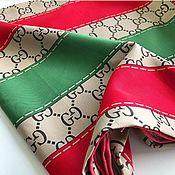Платки ручной работы. Ярмарка Мастеров - ручная работа Шелковый платок из ткани Gucci с ручной обработкой края. Handmade.