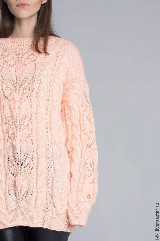 Кофты и свитера ручной работы. Ярмарка Мастеров - ручная работа. Купить Джемпер из ангоры в разных цветах. Handmade. Бледно-розовый