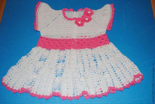 Одежда для девочек, ручной работы. Ярмарка Мастеров - ручная работа. Купить Платье Ягодка. Handmade. Рисунок, платье крючком  платье