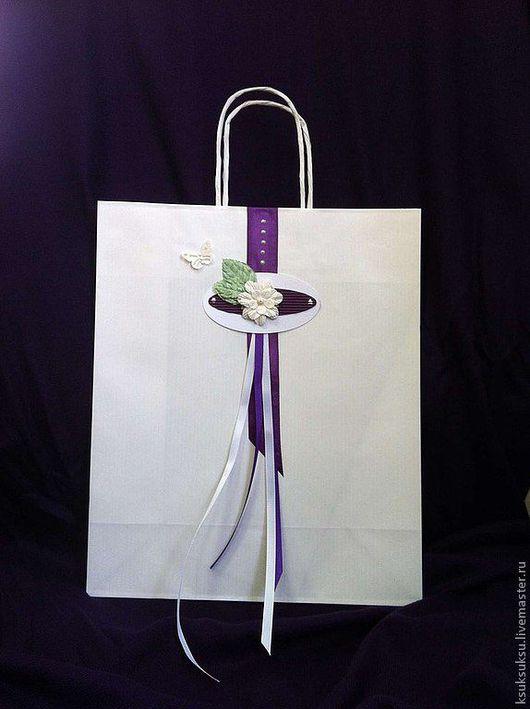 Подарочная упаковка ручной работы. Ярмарка Мастеров - ручная работа. Купить Подарочный пакет. Handmade. Подарочный пакет, ленты атласные