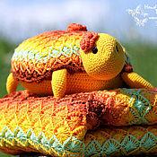 """Для дома и интерьера ручной работы. Ярмарка Мастеров - ручная работа Плед + Подушка """"Черепаха"""". Handmade."""