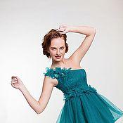 Одежда ручной работы. Ярмарка Мастеров - ручная работа Зеленое платье. Handmade.
