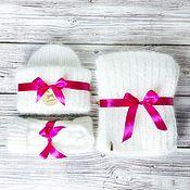 Аксессуары handmade. Livemaster - original item Knitted set Hat, Scarf, Mittens