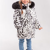 Работы для детей, handmade. Livemaster - original item Mouton fur coat for girl. Handmade.