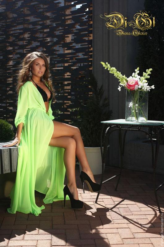 Пляжное платье с длинным рукавом