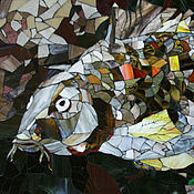 """Картины и панно ручной работы. Ярмарка Мастеров - ручная работа Панно """"Карп"""". Handmade."""