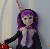Портретная кукла ручной работы. Ярмарка Мастеров - ручная работа Мику Хацуне в сиреневом. Handmade.