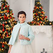 Свадебный салон handmade. Livemaster - original item Bridal bolero, Wedding Bolero, wedding coat, Bridal jacket, Madina. Handmade.