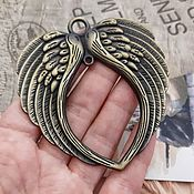Материалы для творчества handmade. Livemaster - original item Suspension pendant wings 73x69x4 mm Bronze (3160). Handmade.