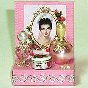 Куклы и игрушки ручной работы. Ярмарка Мастеров - ручная работа Миниатюра 1 12 Кукольный парфюмерный набор. Handmade.