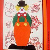 """Открытки ручной работы. Ярмарка Мастеров - ручная работа Открытка """"Клоун"""". Handmade."""