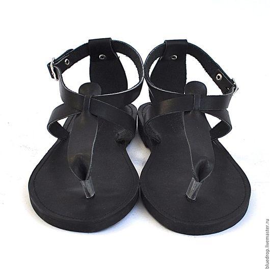 """Обувь ручной работы. Ярмарка Мастеров - ручная работа. Купить Кожаные сандалии """"Т"""" с пяточкой. Handmade. Сандалии, кожа"""