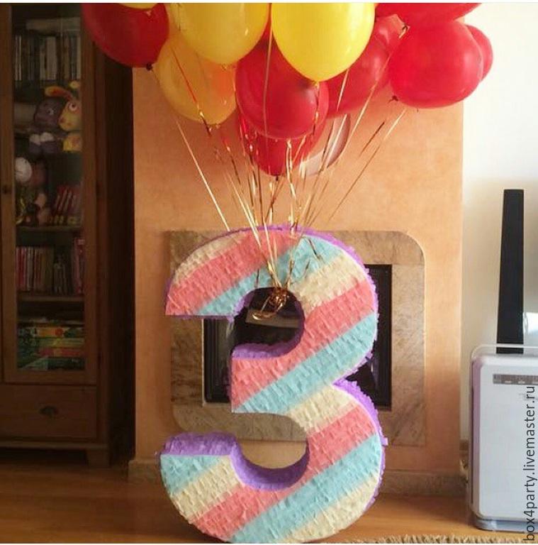 Как сделать объемную цифру 1 на день рождения пошагово