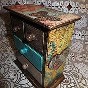 """Для дома и интерьера ручной работы. Ярмарка Мастеров - ручная работа Мини-комод """" Полет бабочки"""". Handmade."""