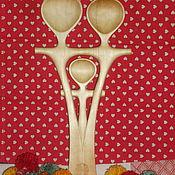 """Для дома и интерьера ручной работы. Ярмарка Мастеров - ручная работа ложка из дерева """"Семья"""". Handmade."""