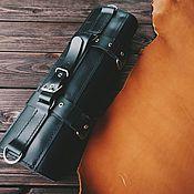 Классическая сумка ручной работы. Ярмарка Мастеров - ручная работа Поварская скрутка для ножей ODAL из кожи, черная. Handmade.