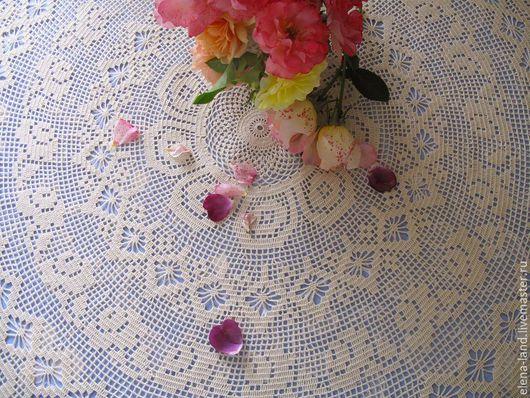 """Текстиль, ковры ручной работы. Ярмарка Мастеров - ручная работа. Купить Скатерть """"Розовый сад"""". Handmade. Бежевый, скатерть с розами"""
