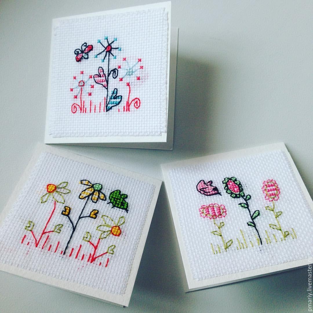 Заготовки на открытки вышивка, олечка