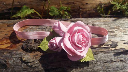 Повязки ручной работы. Ярмарка Мастеров - ручная работа. Купить Повязка из роз. Handmade. Розовый, повязка, фоамиран, фом эва