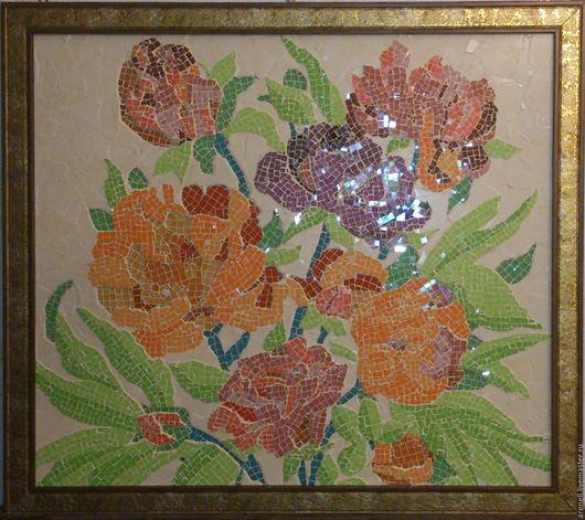 """Картины цветов ручной работы. Ярмарка Мастеров - ручная работа. Купить Панно """"Цветики"""". Handmade. Разноцветный, подарок, красота"""