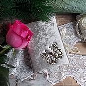 Канцелярские товары ручной работы. Ярмарка Мастеров - ручная работа Блокнотики бархатные. Handmade.