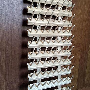 Материалы для творчества ручной работы. Ярмарка Мастеров - ручная работа Стенд для ниток, (диам. ДО 3 см) 96 мест (mini) Вертикальный. Handmade.