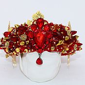 Украшения handmade. Livemaster - original item Crown headband in the style of Dolce & Gabbana. Handmade.