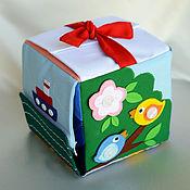 Куклы и игрушки ручной работы. Ярмарка Мастеров - ручная работа Набор для пошива развивающего кубика (два варианта). Handmade.