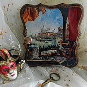 """Для дома и интерьера ручной работы. Ярмарка Мастеров - ручная работа Ключница """"Окно в Венецию"""". Handmade."""