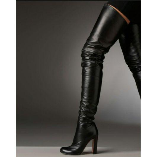 Обувь ручной работы. Ярмарка Мастеров - ручная работа. Купить сапоги ботфорты из  кожи. Handmade. Сапоги женские, сапоги из кожи