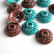 Материалы для творчества handmade. Livemaster - original item Accessories for jewelry: caps for coated beads. Handmade.