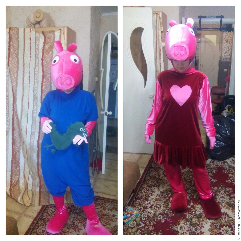 Карнавальные костюмы ручной работы. Ярмарка Мастеров - ручная работа.  Купить костюм свинка пеппа. 275a6a1ee4979