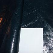 Материалы для творчества ручной работы. Ярмарка Мастеров - ручная работа УЦЕНКА! кожа темно-синяя. Handmade.