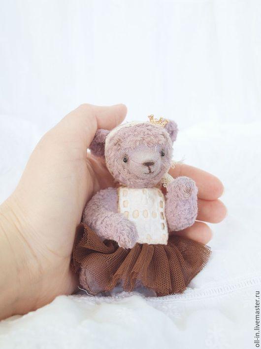 Мишки Тедди ручной работы. Ярмарка Мастеров - ручная работа. Купить Мишка тедди Миа. Handmade. Сиреневый, принцесса