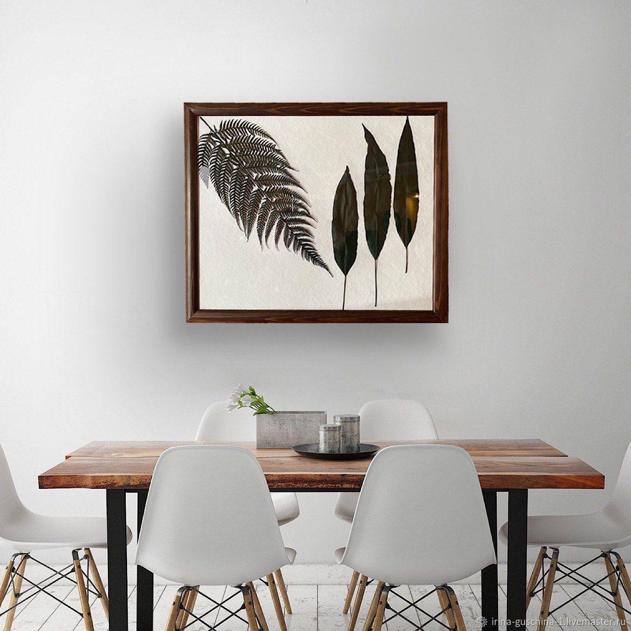Гербарий из листьев - картина на стену, Картины, Липецк,  Фото №1