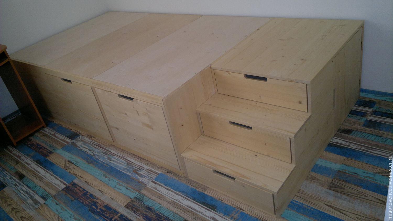 Как сделать кровать подиум своими руками пошагово Фото 36